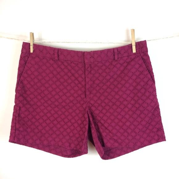 b9edfedf89 Banana Republic Pants - Banana Republic Tailored Eyelet Shorts Size 12